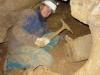Petr při těžbě